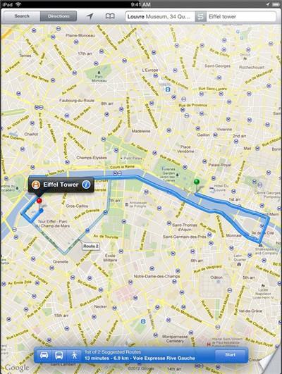 ipad retina google maps