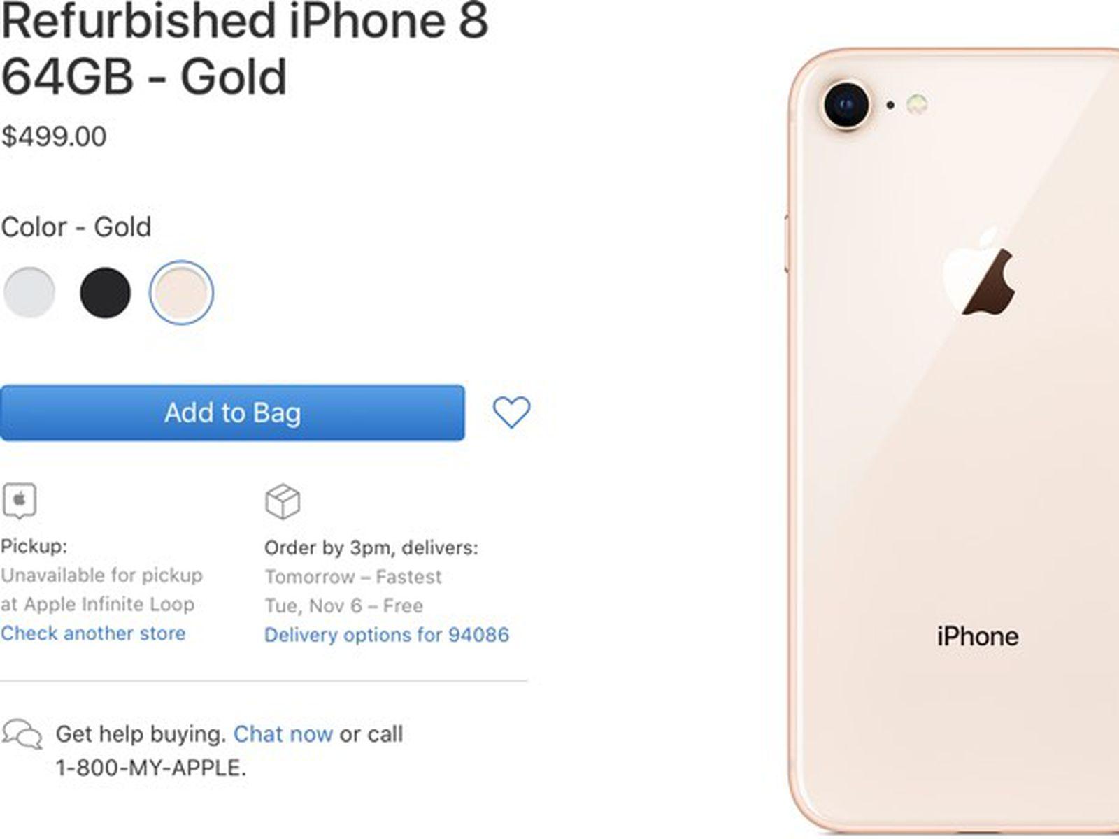 Apple Now Selling Refurbished Iphone 8 And Iphone 8 Plus Models Macrumors