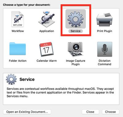 2 Automator document type