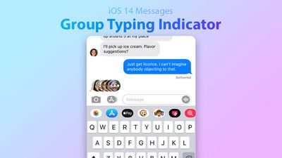 iOS 14 Group Typing Indicator