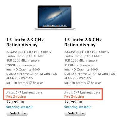 retina macbook pro 5 7 days