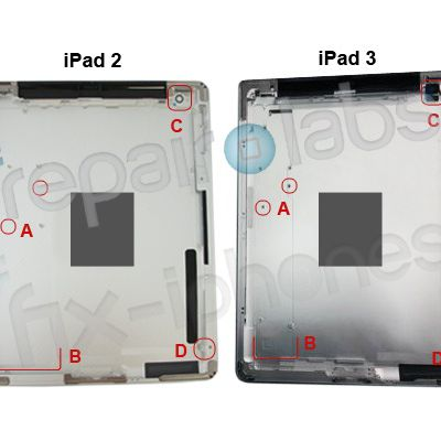 ipad 2 ipad 3 rear shell