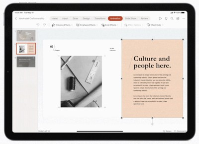 Office for iPad now supports mouse and trackpad