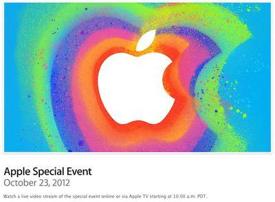 apple october 2012 event stream