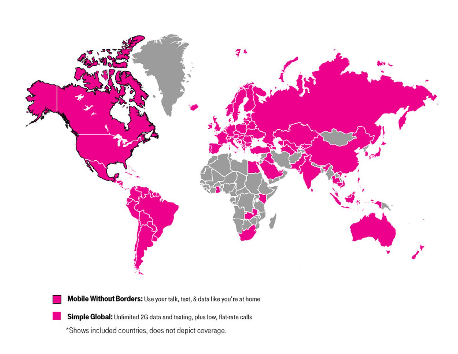 t mobile europe coverage map T Mobile Expands Simple Global Coverage to All of Europe and South