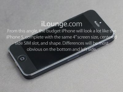 budget iphone front side