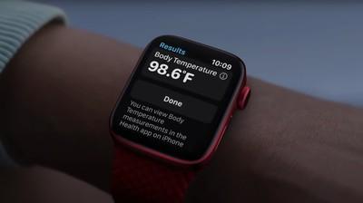 Température corporelle de l'Apple Watch terminée