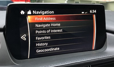 mazda connect menu