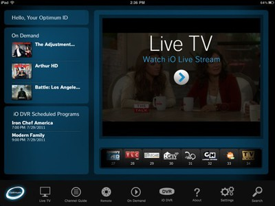 cablevision optimum ipad jul11
