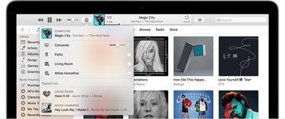 itunes airplay speaker menu apple music