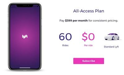 lyft subscription plans iphone x