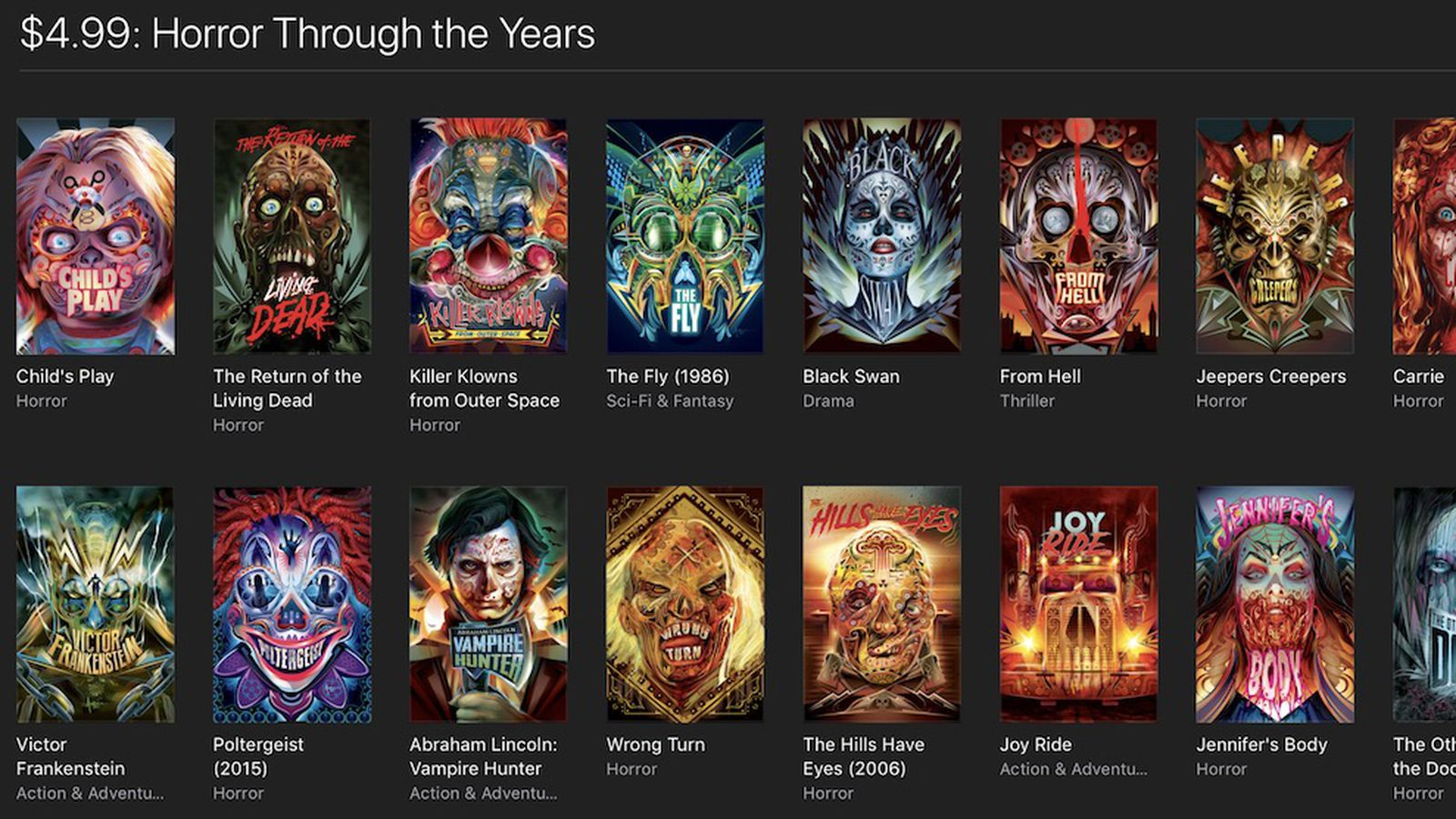 Itunes Celebrates Halloween With Horror Movie Sale Of 5 Classics And 10 Modern Films Macrumors