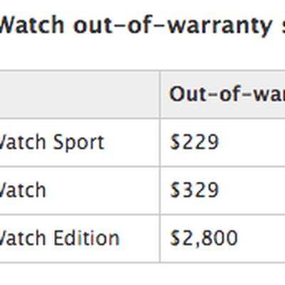 Apple Watch Out of Warranty
