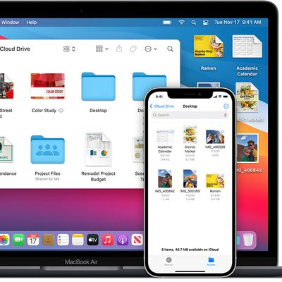 macos big sur ios 14 iphone 12 pro macbook air icloud drive desktop documents hero