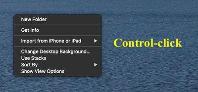 contextual menu control click