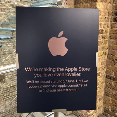 apple covent garden sign