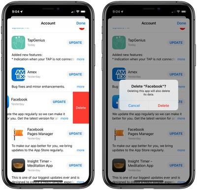 iOS 13 Delete Apps