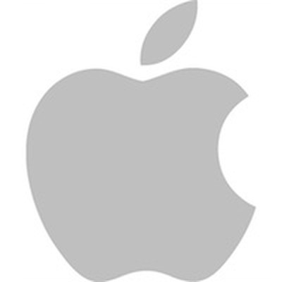 apple logo gray