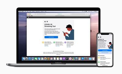 Apple new covid 19 app macbook pro iphone 11 pro 03272020 big