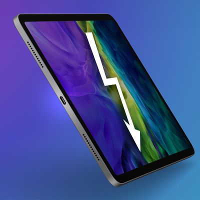 iPad Pro USB C Feature Purple Cyan