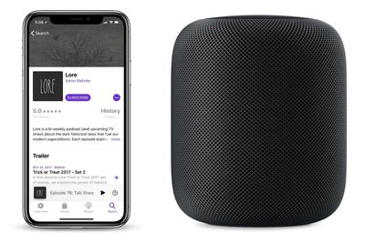 podcasts homepod how to