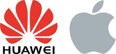 huawei apple logos