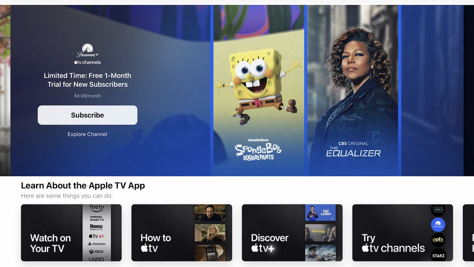 Apple TV App Offering Extended One-Month Paramount+ Trial Through June
