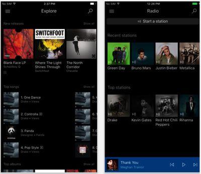Microsoft Groove iOS