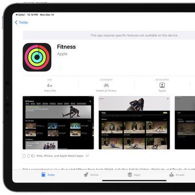 apple fitness plus no ipad