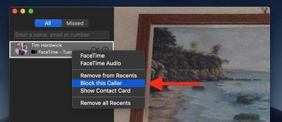 block facetime caller mac