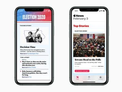 apple news 2020 election