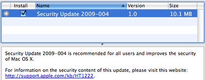 164128 security update 2009 004