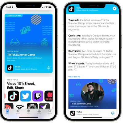 app store events ios 15