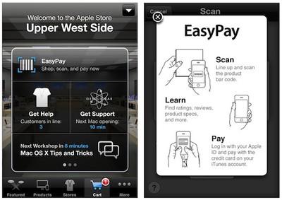 easypay self checkout screenshots