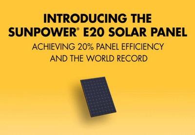 sunpower e20 solar panel