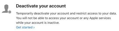 deactivate get started