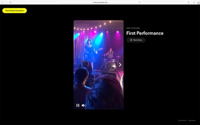 Concert Example Story on Snapchat