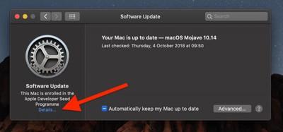 stop receiving beta macos mojave03