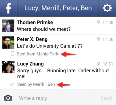 messenger in line read receipts location done 1