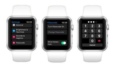 apple watch turn on passcode