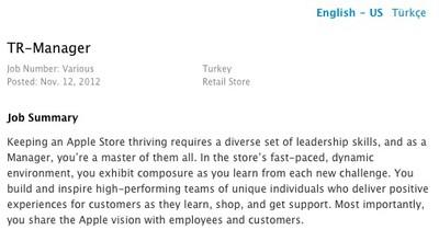 apple turkey retail manager