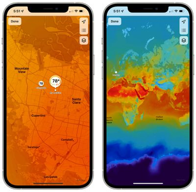 weather map ios 15 zoom in out