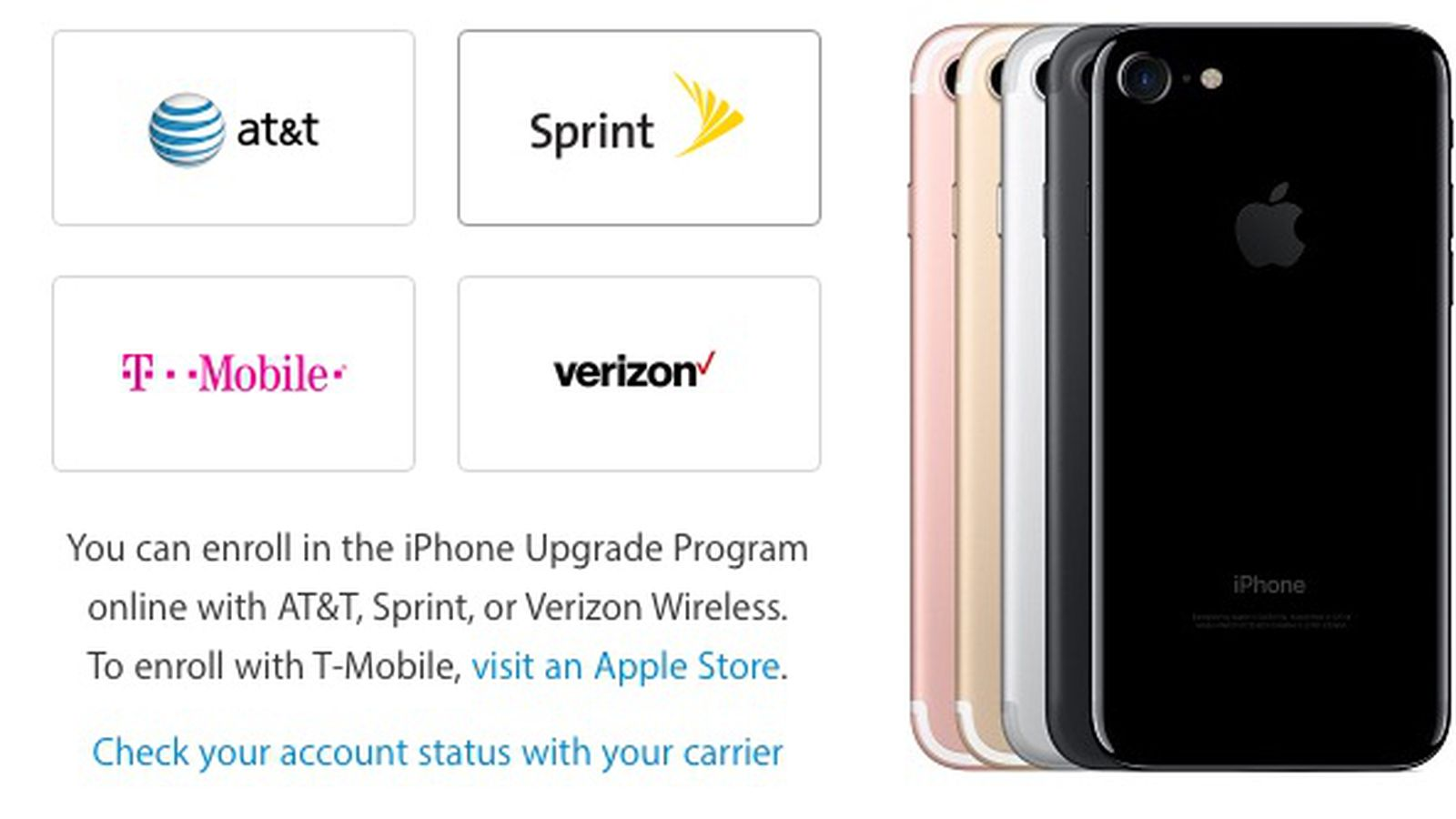 Iphone 7 Models From At T And T Mobile Do Not Support Cdma Networks Macrumors
