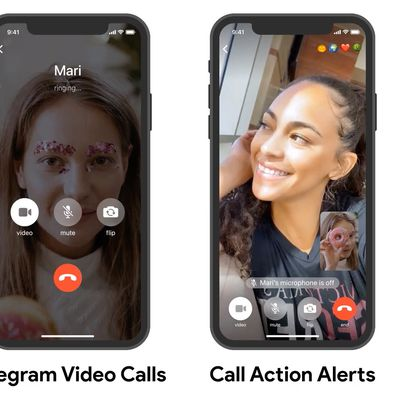 telegram video calls
