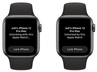 Déverrouiller l'iPhone Apple Watch