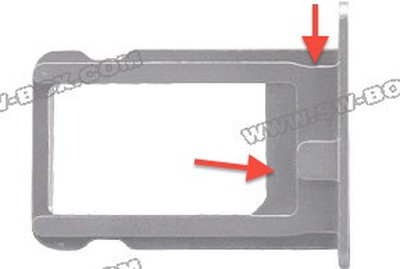 iphone 5 sim tray annotated