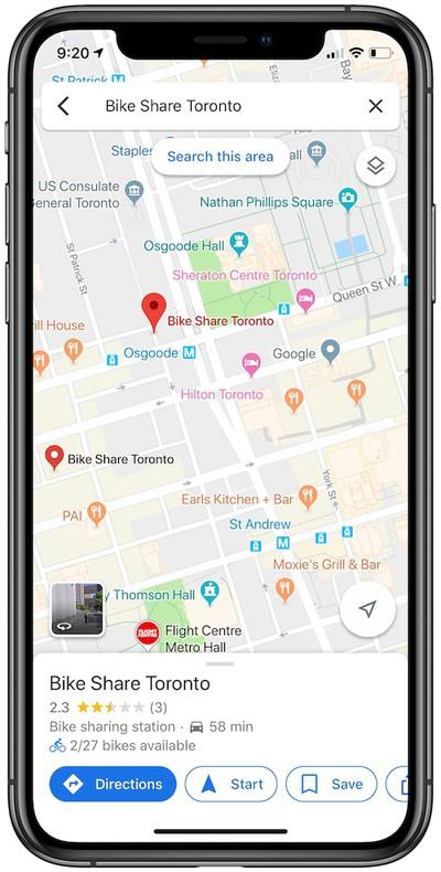 bike share google maps