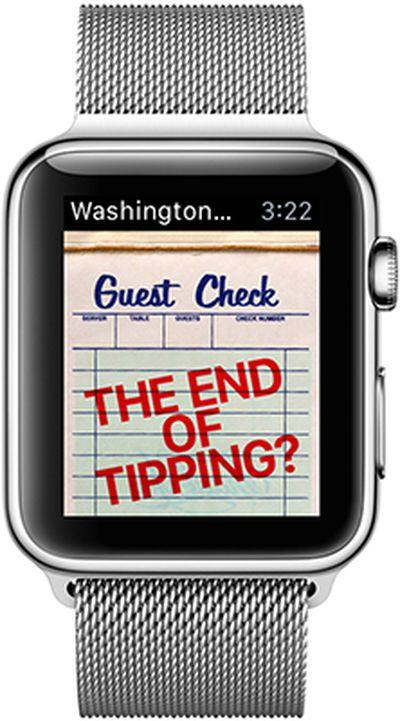 Washington Post Apple Watch