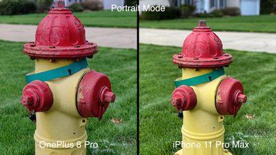 oneplus 8 pro iphone portrait mode