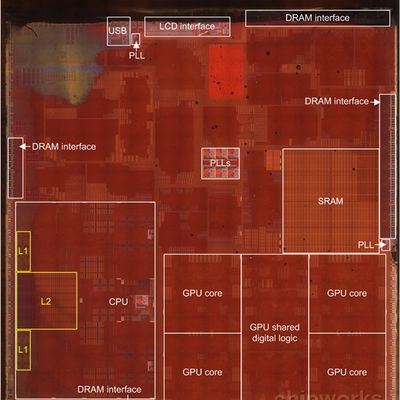 chipworks a7 floorplan